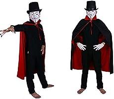 Tessuto Per Adulti Mantello Con Stand Up Colletto Vampiro Halloween Costume