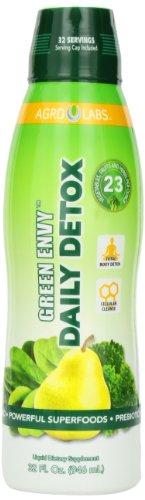 Агро Labs Green Envy Daily Detox, здоровых волос, кожи и ногтей, 32-жидкую унцию бутылки