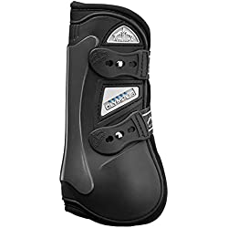 Veredus Olympus Open Front Jumping Horse Boots, Black, Large