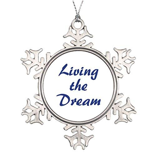 Dozili Personalised Christmas Tree Decoration Living The Dream Snowflake Ornament (Nz Personalised Christmas Gifts)