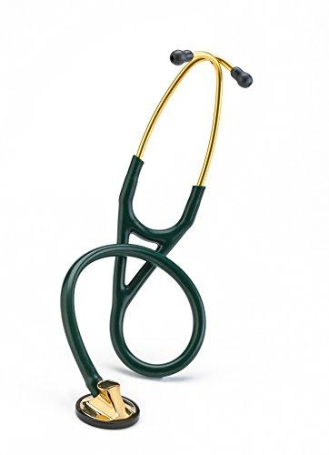 Cardiology Littmann Hunter Master - 3M Littmann Master Cardiology Stethoscope, Brass-Finish Chestpiece and Eartubes, Hunter Green Tube, 27 Inch, 2183