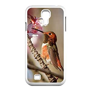 Diy Colorful Hummingbird Custom Cover Phone Case for samsung galaxy s4 White Shell Phone [Pattern-4]