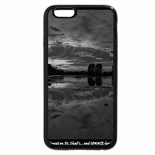 iPhone 6S Plus Case, iPhone 6 Plus Case (Black & White) - Sunset on Gommie Hood