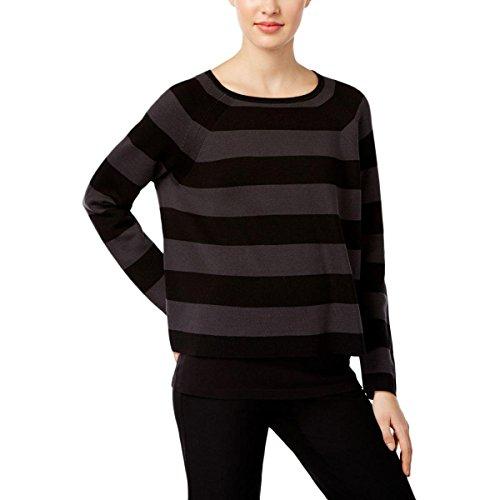 Silk Striped Crop Sweater Black XS (Silk Striped Sweater)