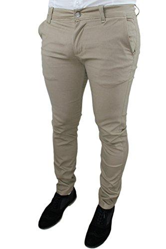 Slim Invernale Casual Pantaloni Uomo Fit Jeans Battistini Sartoriale Beige Aderente C fxgqO1gwY