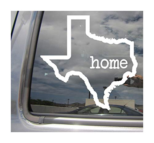 Right Now Decals Texas State Home Outline - Austin Dallas USA America - Cars Trucks Moped Helmet Hard Hat Auto Automotive Craft Laptop Vinyl Decal Store Window Wall Sticker 07002 -
