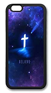 iPhone 6 Cases, Religious Christian Durable Soft Slim TPU Case Cover for iPhone 6 4.7 inch Screen (Does NOT fit iPhone 5 5S 5C 4 4s or iPhone 6 Plus 5.5 inch screen) - TPU Black