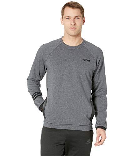 - adidas Men's Essentials Motion Pack Fitted Crew Sweatshirt, Dark Grey Heather, X-Small