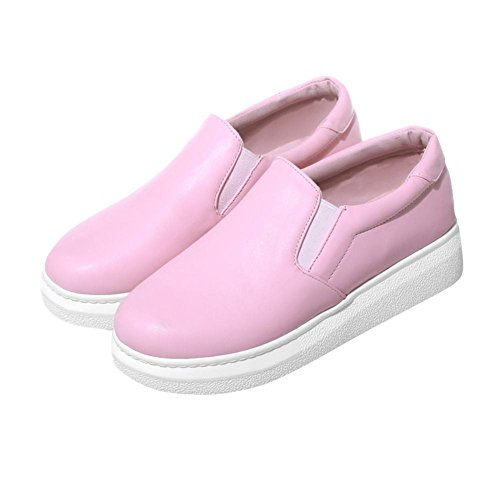 Latasa Mujeres Slip On Loafers Shoes, Sneakeres, Zapatos Planos Skate Pink