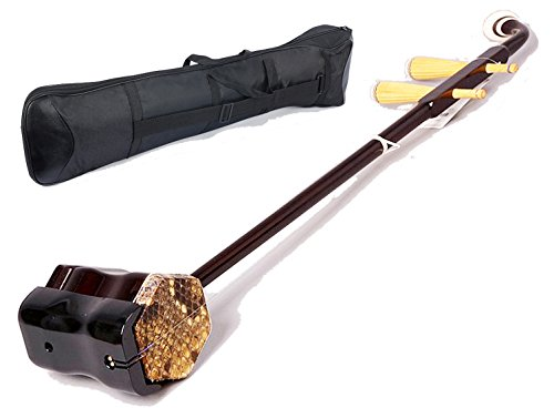 OrientalMusicSanctuary Beginner Chinese Violin - Erhu With Erhu Gig-Bag and Accessories - USA Warranty by OrientalMusicSanctuary