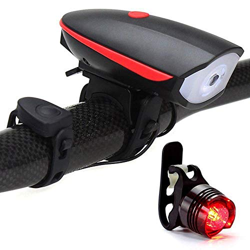 Dixinla Bike Front Bicycle Back Light USB Charger Front Light Mountain car Horn Front Light Warning Light Equipment Accessories by Dixinla