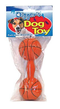 Boss Pet 52531 Soft Latex Dumbell Dog Toy Assorted Colors