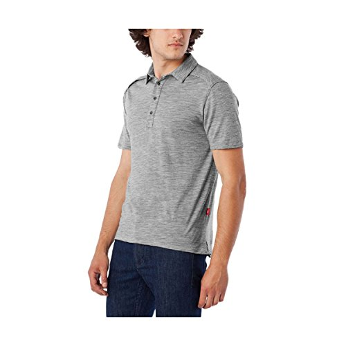 (Giro Merino Polo Shirt - Men's Pewter Heather Large)