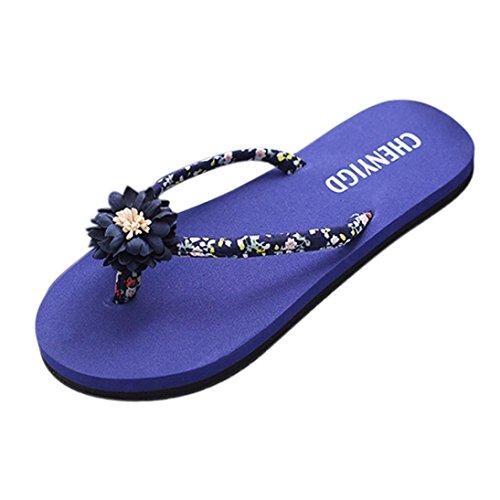 Azul de Chanclas baño playa Mujer Mujeres de zapatillas zapatos sandalias LMMVP Verano ojotas la chanclas señoras delgadas de las sandalias AHAqFw