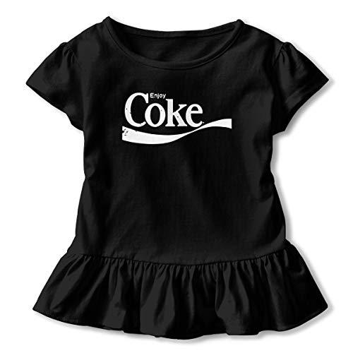 Enjoy Coke Girls Short Sleeve Summer Cotton Casual Tee Dresses Black ()