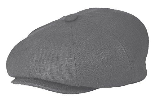 ab0e061cc Emstate Unisex 8 Panel Linen Summer Slim Newsboy Applejack Cap Made ...
