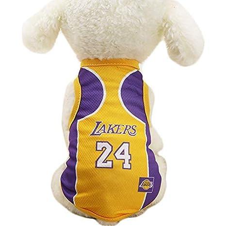 Chqinde Ropa Gatos Ropa JiMany Perros Ropa NBA Baloncesto Camiseta ...