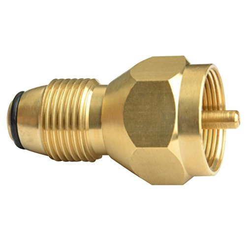 Venice mart Universal Propane Tank Refill Adapter- 100% Solid Brass Regulator Valve Accessory for all 1 LB Tank Small Cylinders (Autumn Brass Lantern)