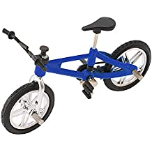 SupremeLife Finger Baby Monkey Bike, Mini Finger Bicycle, Metal Cool Toy, Creative Toy for Finger Monkey Collection, Best Christmas Gift (Blue)