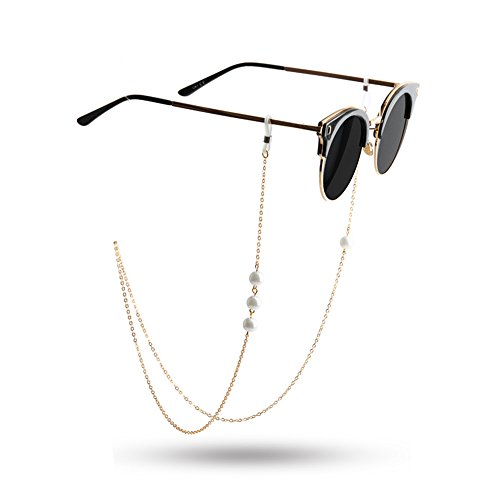 Kalevel Eyeglass Chain Eyeglasses Chain Eyeglass Holder Necklace for Women - Magnetic Sunglasses Cool Clip