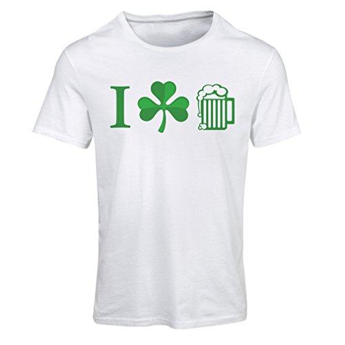 T shirts for women The Symbols of St. Patrick's Day - Irish Icons (Medium White Multi Color)