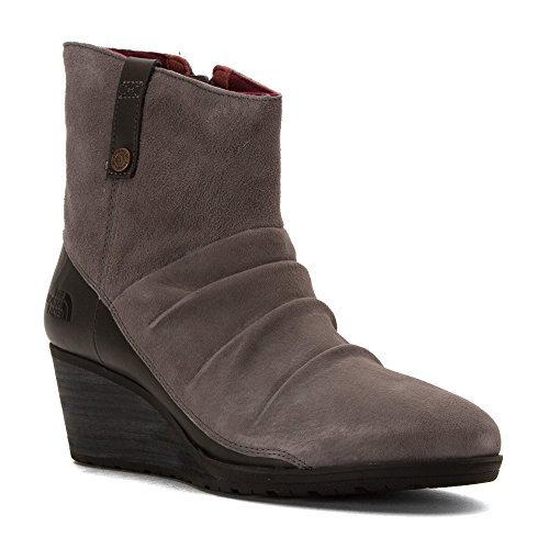 The North Face Bridgeton Wedge Zip Smoked Pearl Grey/Deep Garnet Red Women's Lace-up Boots