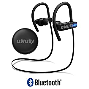 Bluetooth Headphones For Running IMPROVED 2018, Best Wireless Earbuds For Sports, Running Or Gym Workouts. IPX7 Waterproof, Sweatproof, Secure-Fit. Noise Cancelling Earphones w/ Mic