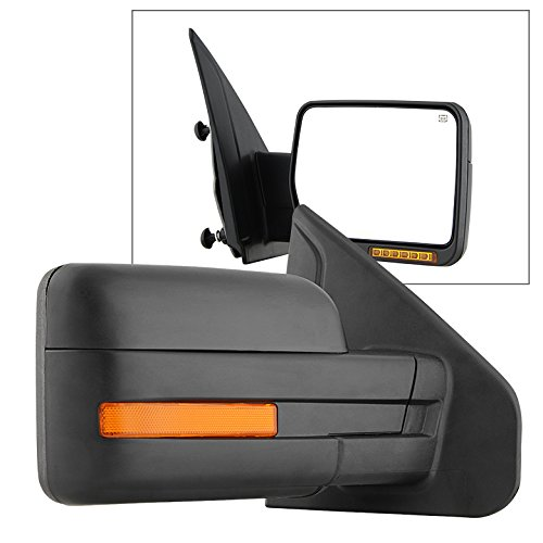 Xtune MIR-03349EH-P-R Mirror (Ford F150 07-14 POWER Heated Amber LED Signal OE - Right) by Xtune