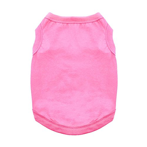 DOGGIE DESIGN Cotton Dog Tank (Carnation Pink, 2XL)