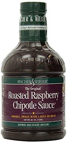 Fischer & Wieser Razzpotle Roasted Raspberry Chipotle Sauce, 40-Ounce Bottle Roasted Sauce