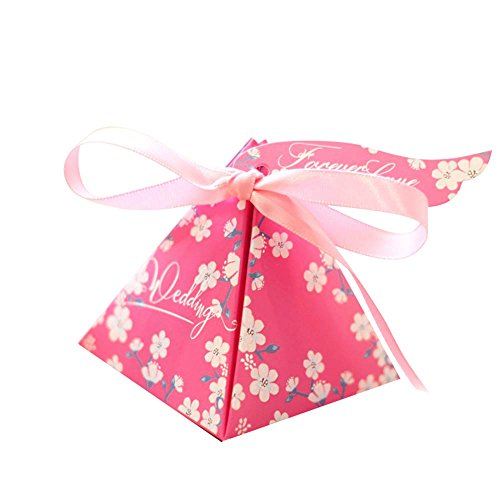 Colias Wing 50 pcs Forever Love Tags&Wedding Letters&Cherry Blossoms Flowers Pattern Stylish -