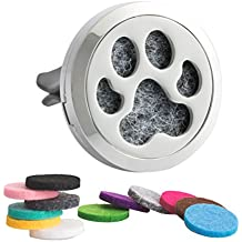 Aromatherapy Car Essential Oil Diffuser Vent Clip Stainless Steel Air Freshener Dog Paw Locket