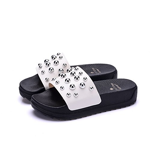 cool verano Fankou de 37 alta antideslizante talón elegante gruesa baño interiores nbsp;Zapatillas femenina blanda baño blanco inferior de hogar verano SSqHY5