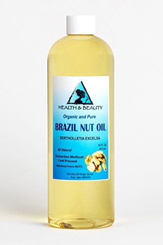 Brazil Nut Oil Organic Carrier Cold Pressed Natural Fresh 100% Pure 16 oz