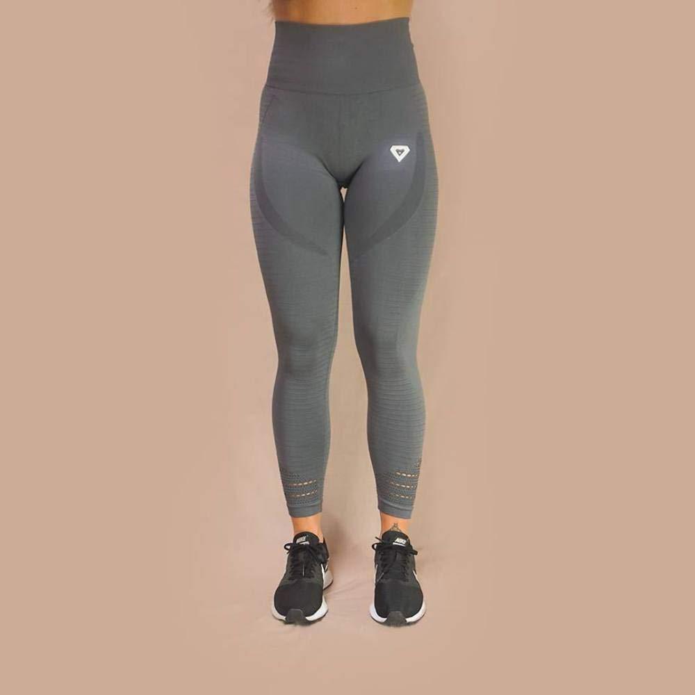 07cce3b72aba4 Merakilo Pulse Seamless Leggings - Wolf Grey: Amazon.co.uk: Clothing