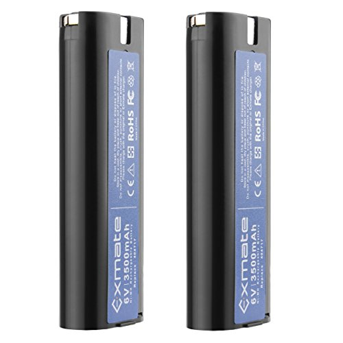 Exmate 2 Pack 6V 3.5Ah Ni-MH Battery Compatible with Paslode 404717 B20544E BCPAS-404717 BCPAS-404717SH -