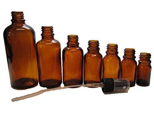12 20 ml Amber Essential Oil Bottles with Spray Caps