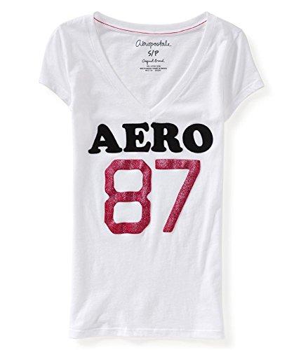 Aeropostale Womens Glitter Embellished T Shirt