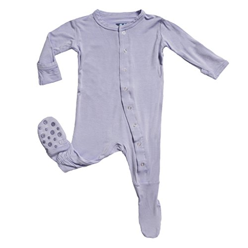 KicKee Pants Little Baby Girls' Footie (Lilac, 3-6 Months) ()