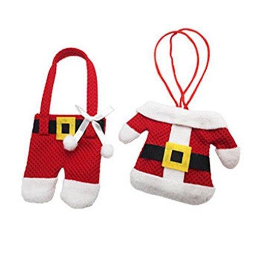 Zehui Cute Bag Xmas Hanging Decor and Suit Tableware Holders Knife Christmas Santa decorations Desktop decoration £¨1 pcs£ (Desktop Tree For Animated Christmas)
