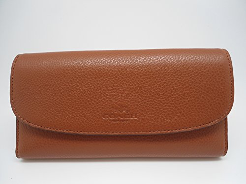 Coach Womens Pebbled Leather Checkbook