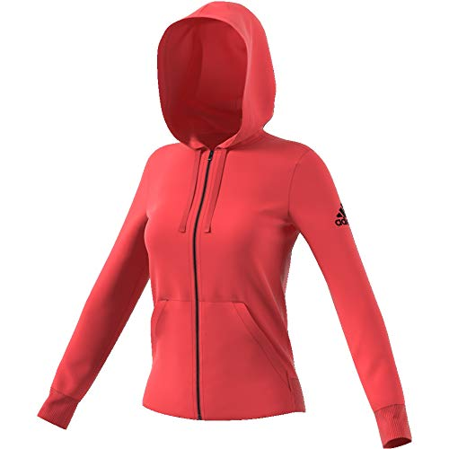 Multicolor Ess Adidas Sudadera Solid Hd Mujer rojo Fz 1nwPSq