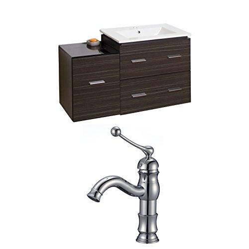 "Jade Bath JB-8461 38"" W x 18"" D Plywood-Melamine Vanity Set with Single Hole CUPC Faucet, Dawn Grey on sale"