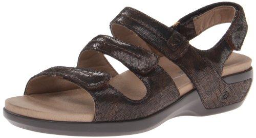 - Aravon Women's Keri Wedge Sandal, Brown, 9 D US