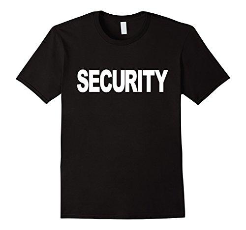 Color Guard Costumes Uniforms (Mens Security T-shirt Fashion Guards Uniform Unisex Top Tee 3XL Black)