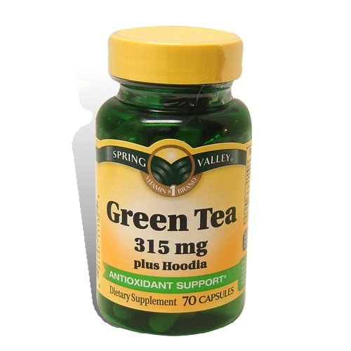 Spring Valley - Green Tea 315 mg Plus Hoodia, 70 Capsules (2 Pack)