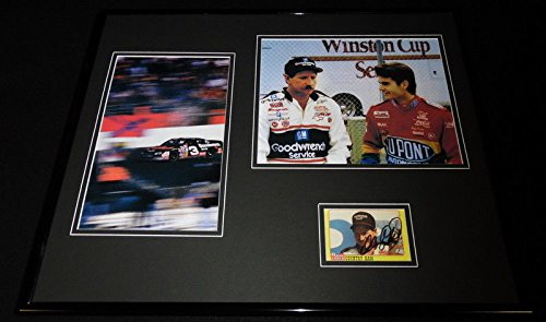 Dale Earnhardt Sr Signed Framed 16x20 Photo Display JSA w/Jeff Gordon ()