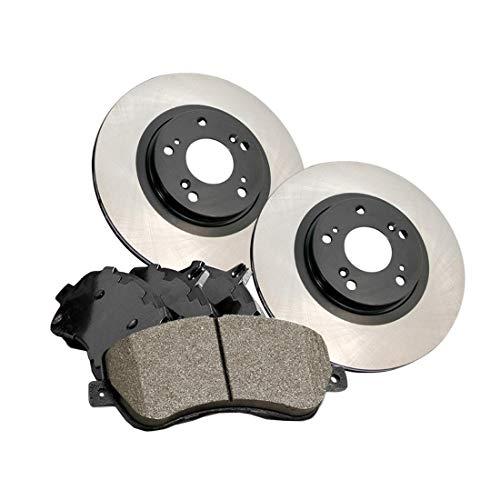 AutoDN Rear Premium Brake Rotor and Posi-Quiet Ceramic Pad 3PCS For 00-04 Subaru Outback