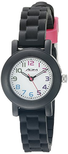 American Design Machine Jr. Kids' ADSG 5004 BLK Selma Analog Display Japanese Quartz Black Watch