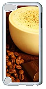 Fashion Customized Case for iPod Touch 5 Generation White Cool Plastic Case Back Cover for iPod Touch 5th with Coffee